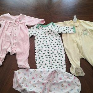 Pajamas - 0-6 month pajama Bundle